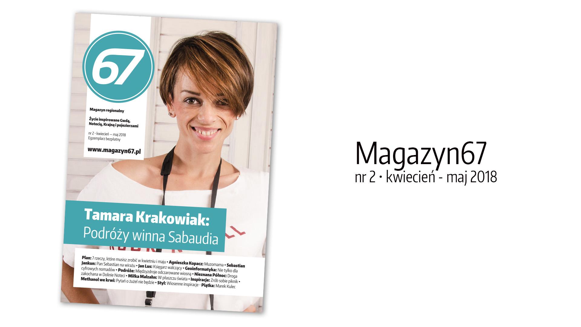 Tamara Krakowiak na okładce Magazynu67