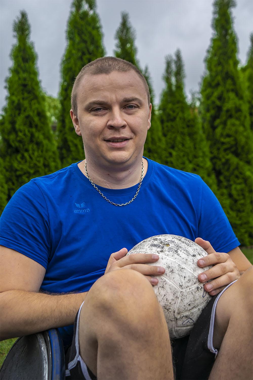 Arkadiusz Henicz, reprezentant Polski w rugby na wózkach. Fot. Marcin Maziarz