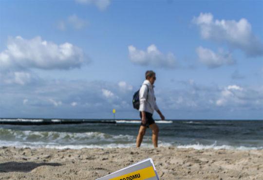 Magazyn67 na plaży w Kołobrzegu. Jeszcze w letnim anturażu. ;) Fot. Marcin Maziarz