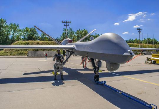 MQ-9 Reaper w Mirosławcu. Fot. Marcin Maziarz