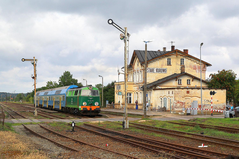 Pociąg na Przystanek Woodstock na stacji Stare Kurowo. Fot. Piotr Chamczyk