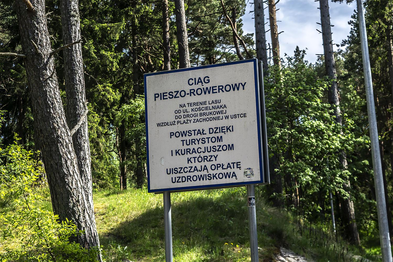 Władze Ustki dają znać wczasowiczom, że inwestycje w infrastrukturę turystyczną są możliwe także dzięki nim. Fot. Marcin Maziarz
