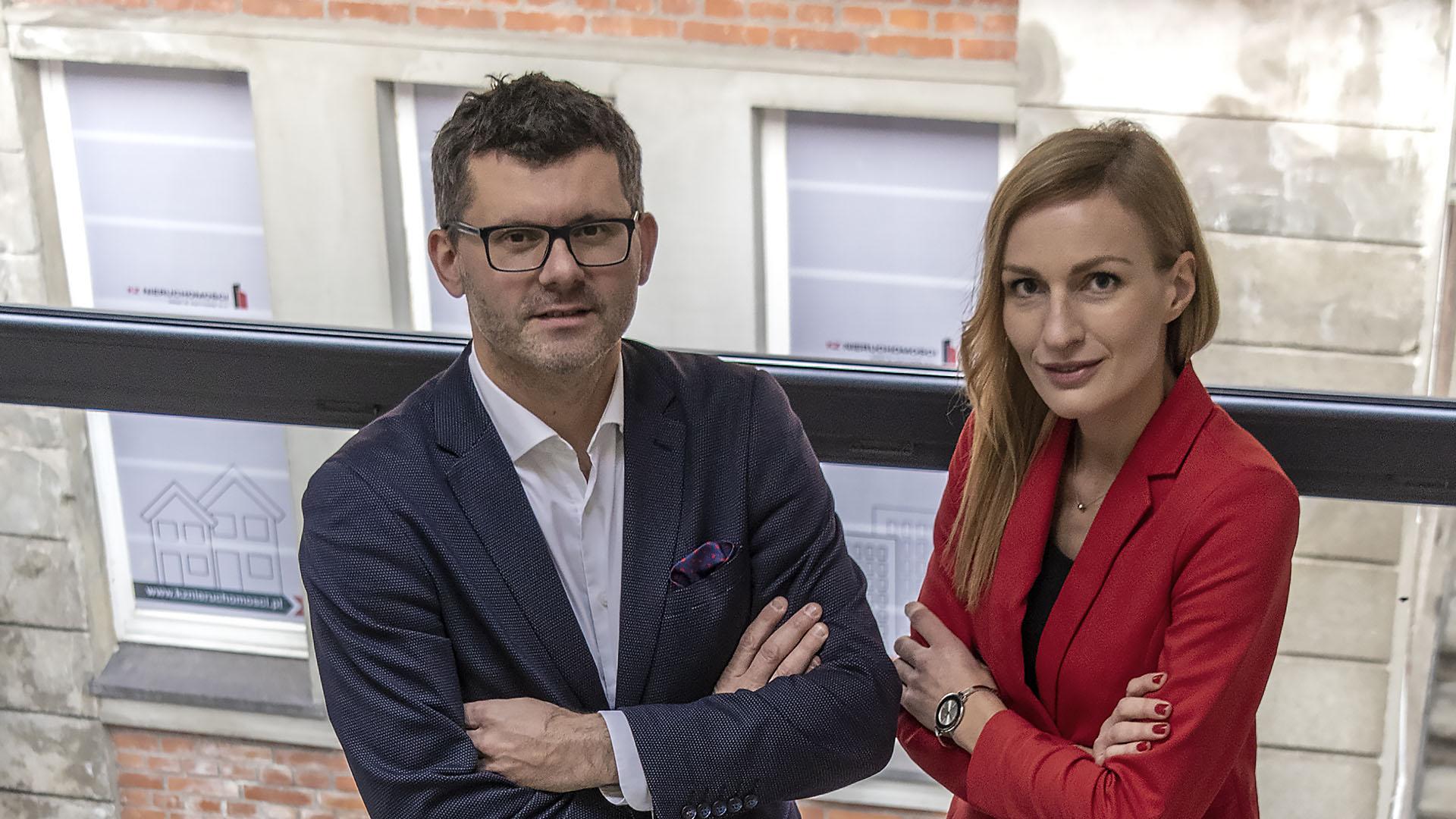 Wspólnicy KZ Nieruchomości: Marcin Zamojda i Magdalena Kittel. Fot. Marcin Maziarz