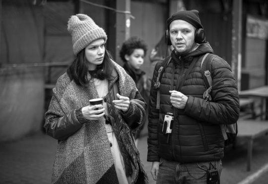 """Anna Bieżyńska i Tomasz Janczar na planie filmu """"Echo"""". Fot. Zbigniew Komorowski"""