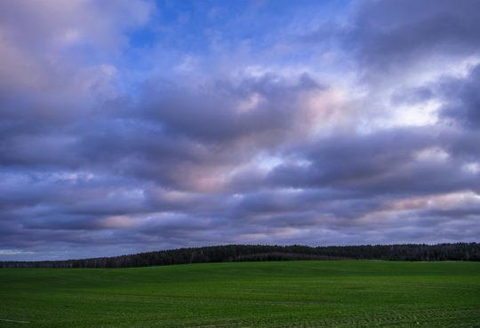 Ostatnie w tym roku przedwieczorne zdjęcie wzgórz Zawady. Fot. Marcin Maziarz
