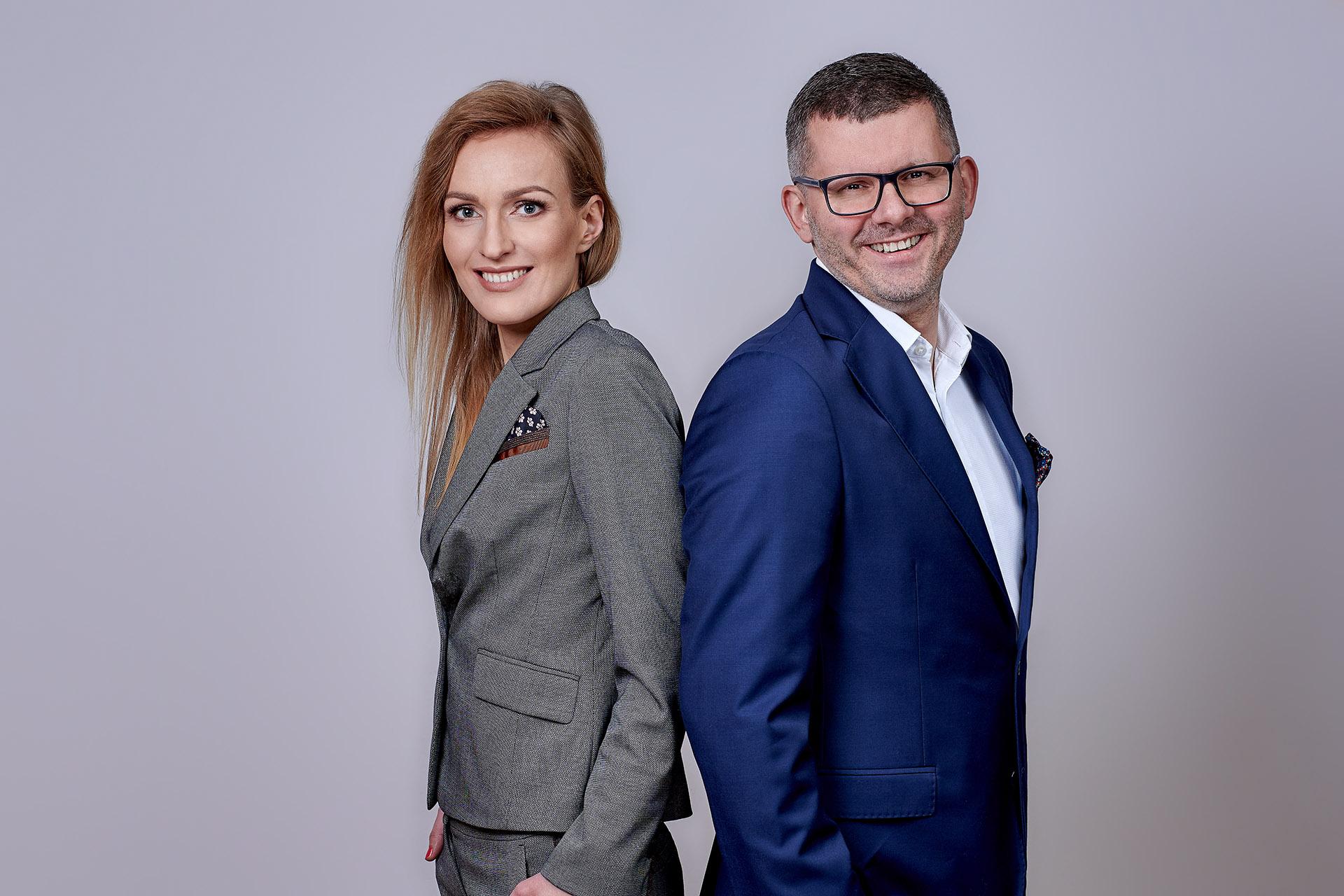 Magdalena Kittel i Marcin Zamojda, założyciele KZ Nieruchomości. Fot. KZ Nieruchomości
