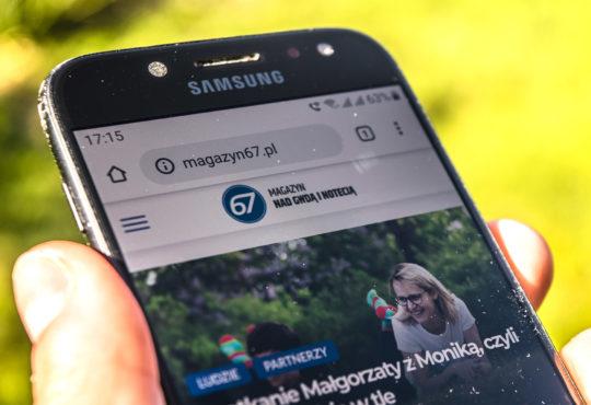 W maju ponad 85% czytelników czytało Magazyn67.pl na smartfonach. Fot. Marcin Maziarz