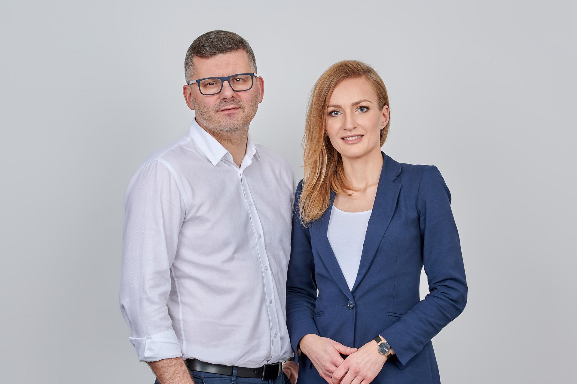 Marcin Zamojda i Magdalena Kittel-Zamojda, założyciele KZ Nieruchomości. Fot. KZ Nieruchomości