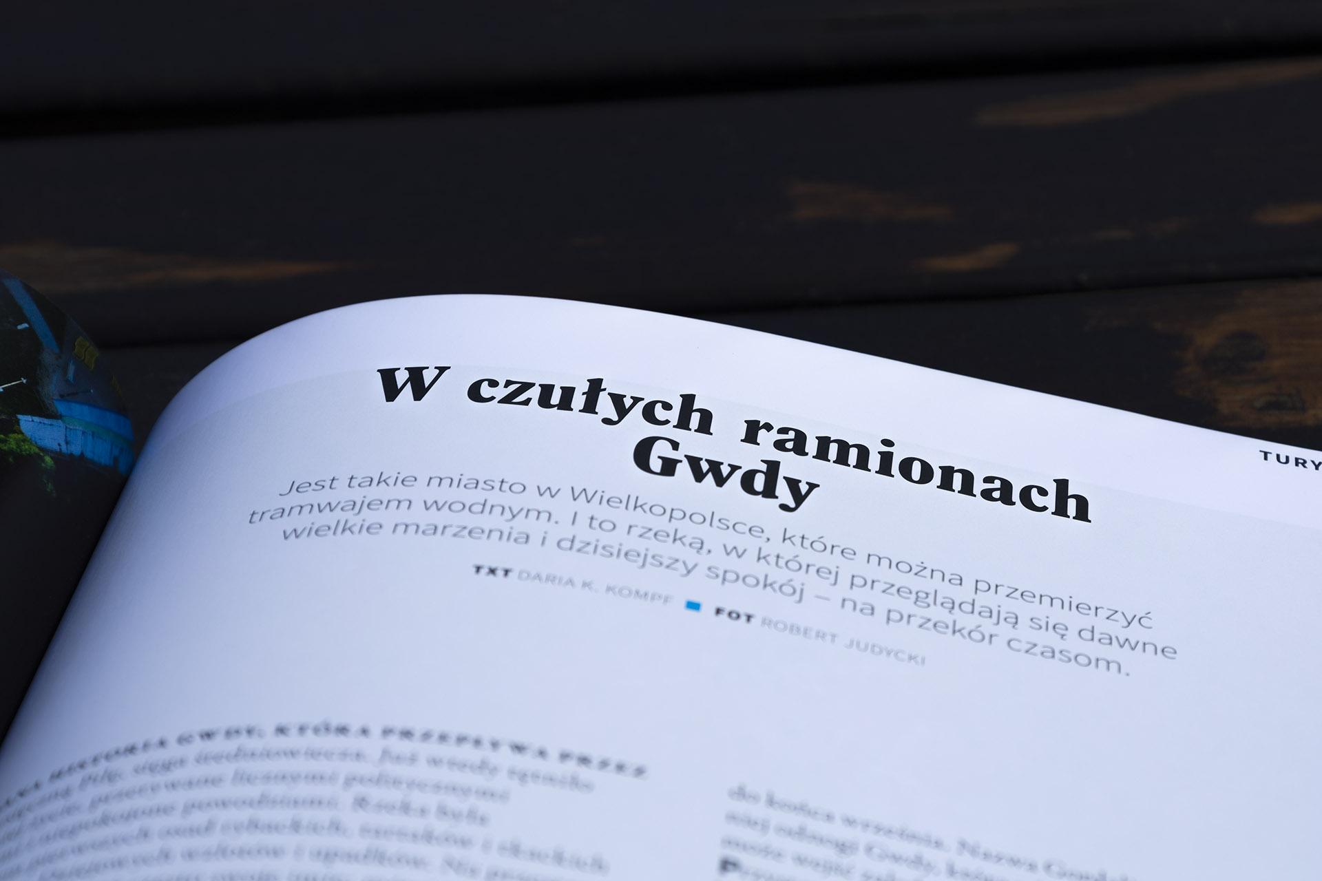 """Pierwszy numer magazynu """"Krainy Polskie"""". Fot. Marcin Maziarz"""