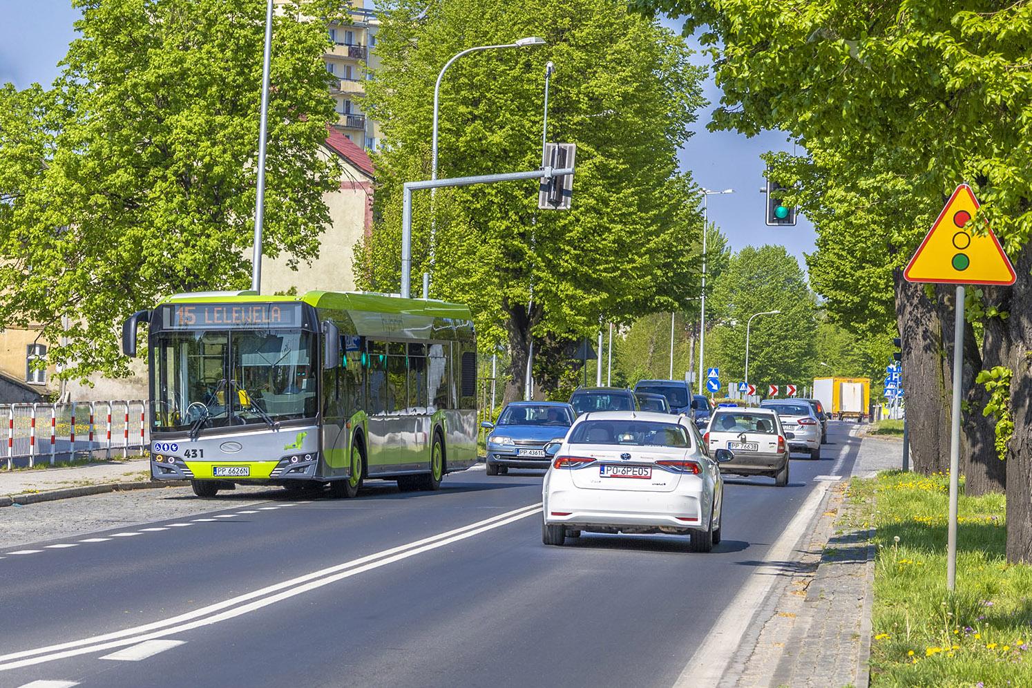 Zamoście ma bardzo dobrze rozwiniętą sieć linii komunikacji miejskiej. Fot. Marcin Maziarz