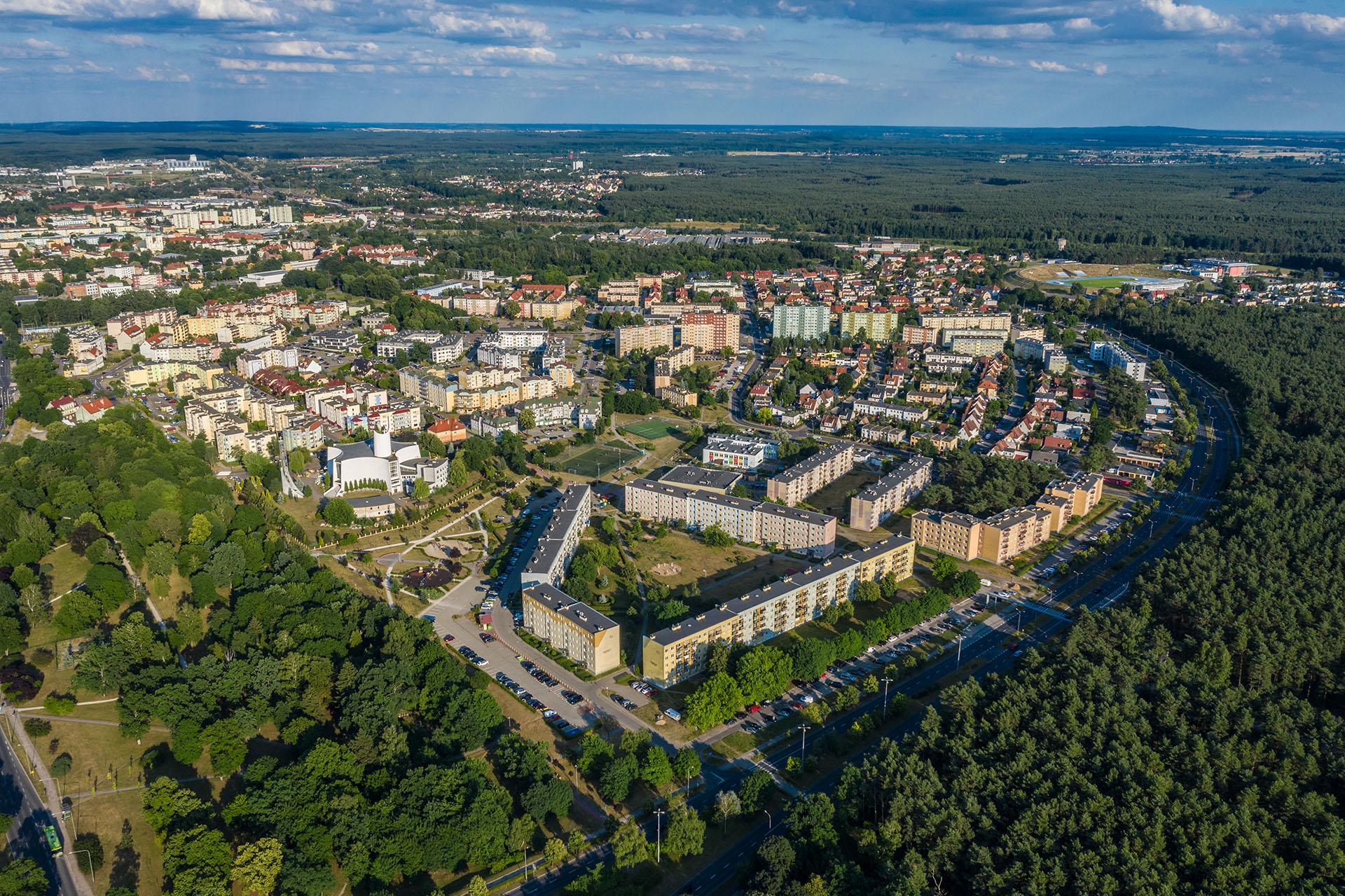 Panorama osiedla Górnego w Pile. Fot. KZ Nieruchomości