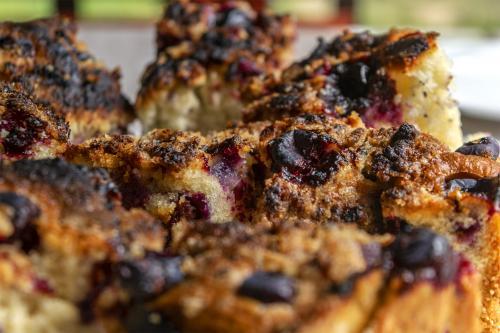 Borówka amerykańska świetnie sprawdzi się w roli dodatku do słodkich wypieków. Fot. Marcin Maziarz