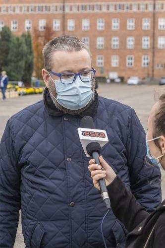 Targ Chryzantemowy w Pile. Krzysztof Rauhut. 2 listopada 2020. Fot. Marcin Maziarz